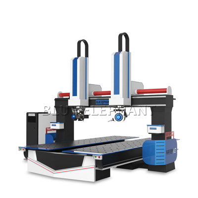 3D 1224 5 Axis CNC Router Machine for Foam , Wood , Plastic