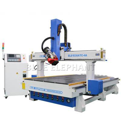 ELECNC-1530 4 Axis ATC Woodworking Machine for Engraving Wooden Sculpture