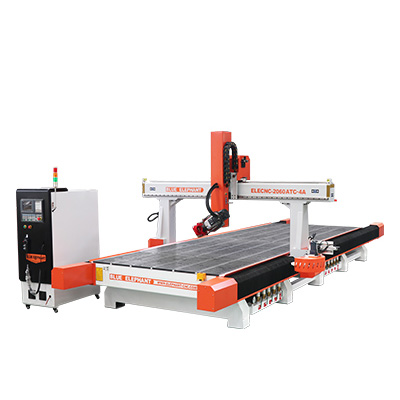 The Latest ELECNC-2060 Carousel ATC 4 Axis CNC Router