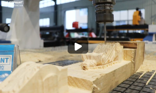 Blue Elephant Cnc Router Engraving wood sample video