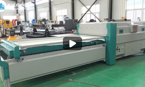 Blue Elephant CNC Automatic Vacuum Press Machine Application On Furniture