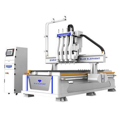 Four process nesting CNC router for Cabinet Making